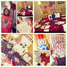 President theme baby shower for baby boy by Chloe Cook Events