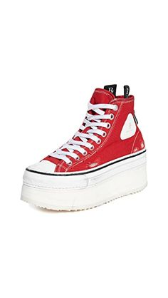 R13 Platform High Top Sneakers | SHOPBOP Funny Halloween Costumes, Vans Sk8, Up Styles, Canvas Leather, High Tops, Bootie Boots, High Top Sneakers, Converse, Platform