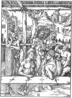Albrecht Düre. The Men's Bath (c. 1497). Woodcut. British Museum, London