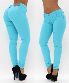 Baby Blue Skinny Jean $52.95 #fashion #jeans #trendy Shop Now > http://www.pompisstores.com/shop/12-skinny