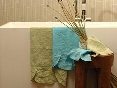 Linen bath Towel ONDE Basic Collection by LA FABBRICA DEL LINO by Bergianti