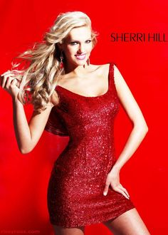 Stunning red dress (Sherri Hill 8424)