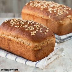 Whole Wheat Honey Oatmeal Bread (i added walnuts and it was great)