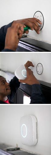 Nest Protect smoke + CO alarm takes only minutes to install and you can set it up from your phone