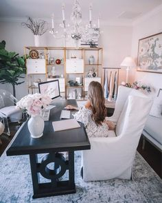 Cozy Home Office, Home Office Design, Home Office Decor, Home Decor, Office Furniture, Deco Studio, Cool Office Space, Office Inspo, Office Chic