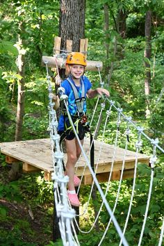 Aerial Adventure Park at Harpers Ferry  I don't think my kids will go for this LOL