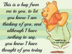 Winnie the Pooh quotes are helpful for every aspect of life. These Winnie the Pooh quotes will help you to discover your own Hundred Acre Wood. Winnie The Pooh Quotes, Winnie The Pooh Friends, Disney Winnie The Pooh, Disney Disney, Hug Quotes, Funny Quotes, Life Quotes, Qoutes, Kissing Quotes