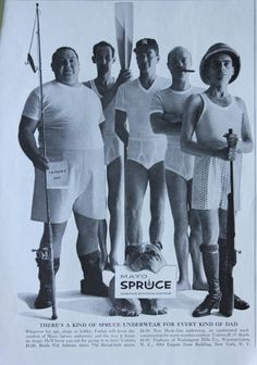 Mayo Spruce Mens Underwear Ad 1960's