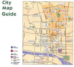 Austin Printable Tourist Map Austin texas attractions Tourist map