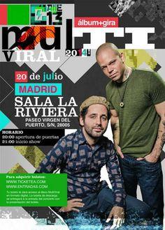 Calle 13 en Madrid, Domingo, 20 de Julio de 2014 a las 20:00 h