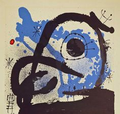 """A vintage Joan Miro lithograph as found. Unsigned, trimmed and with slight foxing. Measures 23"""" x 24"""", unframed and is not mounted or glued-down. Auction Gallery Notes: Condition: If the auctioneer does not provide a statement of condition in the items description it does not imply that the lot is in perfect condition or completely free from wear and tear, imperfections or the effects of aging. Condition requests can be obtained via email to the auction gallery. Any condition statem..."""