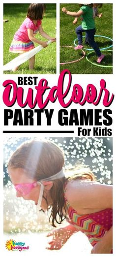 BEST Outdoor Party Games for Kids of All Ages Best backyard party games for preschoolers, year olds and tweens to play at your outdoor party for Memorial Day, birthdays, of July, Father's Day and all of your summer get-togethers. Outdoor Birthday Games, Backyard Party Games, Backyard Birthday Parties, Outdoor Games For Kids, Backyard Ideas, Outdoor Games For Preschoolers, Picnic Games, Outdoor Play, Outdoor Ideas