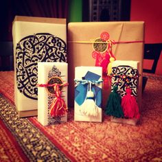 Arabic calligraphy inspired gift wrapping for eid gifts happy eid everyone