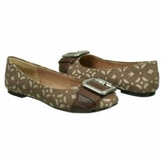 Fossil Maddox Signature Flat Shoes (Pecan Signature) - Women's Shoes - 9.5 M