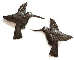 Metal Drum Hummingbirds