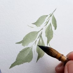Likes, 58 Comments - Jovy Merryl Watercolor Leaves, Watercolor Print, Watercolor Illustration, Watercolour Painting, Watercolor Projects, Watercolor Techniques, Art Techniques, Leaf Art, Art Plastique