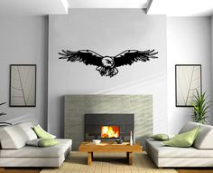 Flying Eagle Design Animal Decor Wall mural vinyl sticker M111. $29.99, via Etsy.
