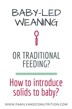 Baby led weaning and spoon feeding: which one is right for your family? One method is not better than the other, and your choice with depend on your parenting style, values and comfort level. There are some nutrition key points to remember when introducin Parenting Issues, Parenting Styles, Single Parenting, Parenting Advice, Kids And Parenting, Introduce Solids To Baby, Baby First Foods, Introducing Solids, 6 Month Old Baby