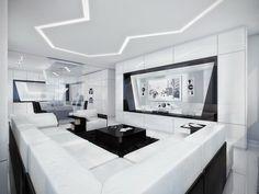 Futuristic living room | Awesome Design Inspiration