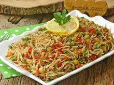 Kavrulmuş Tel Şehriye Salatası Resimli Tarifi - Yemek Tarifleri