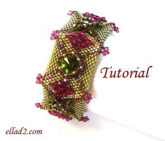 Tutorial Henrietta Bracelet  Beading pattern PDF by Ellad2 on Etsy, $7.00