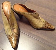 DONALD PLINER COUTURE  Western Coultre Collection Brown And Snake Skin Boots 8.5 #DonaldJPliner #CowboyWestern