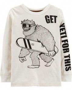 Baby Girls Little Boys Bigfoot Walking Silhouette-1 ComfortSoft Long Sleeve Shirt