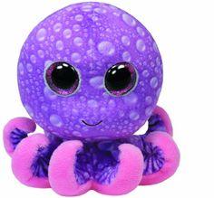 TY 36740 - Legs - Octopus mit Glitzeraugen, 15 cm, pink/violett