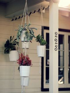 love these! so great for the beach. I'll take the house too. #hangingplants #hangingplanters #ropeplanters
