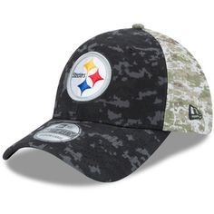 Men s Pittsburgh Steelers New Era Black Camo Salute to Service On-Field 39THIRTY  Flex Hat ba6352db5