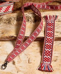 Patterned Sámi Bands - Media - Weaving Today This article includes  downloadable instructions for weaving these patterns on an inkle loom.