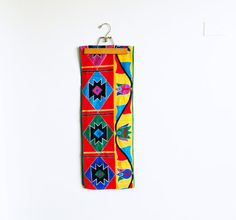 Bright Tribal Tulip Scarf / Vintage Geometric by thehappyforest, $26.00