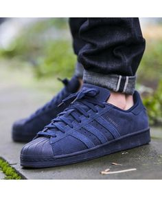 big sale d09c4 f9209 Adidas Superstar Mens Blue Cheap Running Trainers T-1031