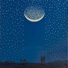 Artist uncredited.  Moon & stars