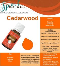 Cedarwood Essential Oil This oil has quickly become one of my favorites!! I don't sleep very soundly, so I decided to try rubbing a rollerball I made with Cedarwood. I slept sooo deep that ni…