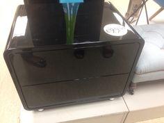 Black gloss drawers Home Sense