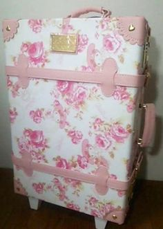 Sanrio JP Purse Women Pink Kawaii. LIZ LISA My Melody Super Kawaii Suitcase Travel Luggage Bag. This floral luggage is absolutely stunning! I'd love a suitcase like this! aff link for ebay