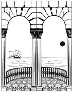 Пескоструйный рисунок Колонны №2