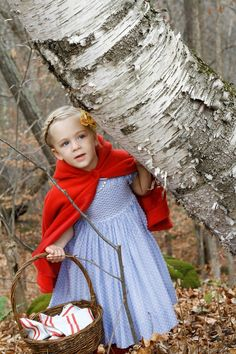 Little Red Riding Hood - so cute and simple...a matching sibling (boy) costume could be the wolf.