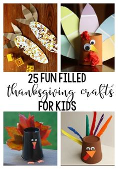 25 Fun Filled Thanksgiving Crafts For Kids, easy, fun and an easy way to decorate for the holiday! Find most of these supplies at the dollar stores. Diy Crafts For Kids Easy, Fun Arts And Crafts, Kid Crafts, Creative Crafts, Thanksgiving Preschool, Thanksgiving Crafts For Kids, Fall Crafts, Happy Home Fairy, Travel Crafts