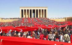 ANITKABIR...front view of the mausoleum of Mustafa Kemal Ataturk