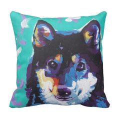 Shiba Inu Pop Art Throw Pillow