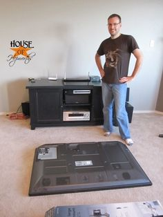 If you have a mounted TV- you MUST do this!! No more excuses!! How-to: Mounting TV to wall with no cords showing