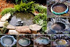 DIY-Mini-Pond-from-Old-Tire-3