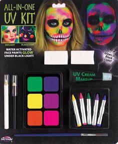 Maskworld Aqua Make-Up Dark Black-schwarz-Horror-Halloween-Karneval