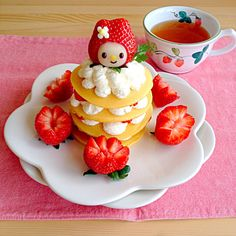 Strawberry,  Pancakes  パンケーキ