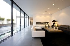 large modern floor to ceiling black blinds - Google Search