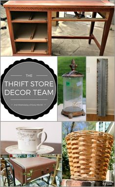 A vintage suitcase makeover and more great thrift store decor projects! Diy Furniture Redo, Diy Furniture Projects, Repurposed Furniture, Diy Projects, Recycling Projects, Rustic Furniture, Modern Furniture, Furniture Design, Thrift Store Crafts
