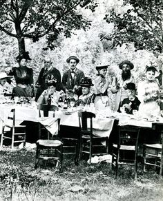 Marcel Proust at a garden party.