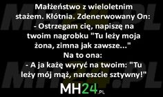 Małżeństwo z wieloletnim stażem… – MH24.PL – Demotywatory, Memy, Śmieszne obrazki i teksty, Filmiki, Kawały, Dowcipy, Humor